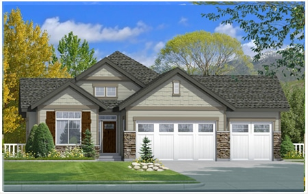 The Reagan is a beautiful home created by Perry Homes, Utah.