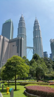 The Petronas twin towers from the KLCC park.
