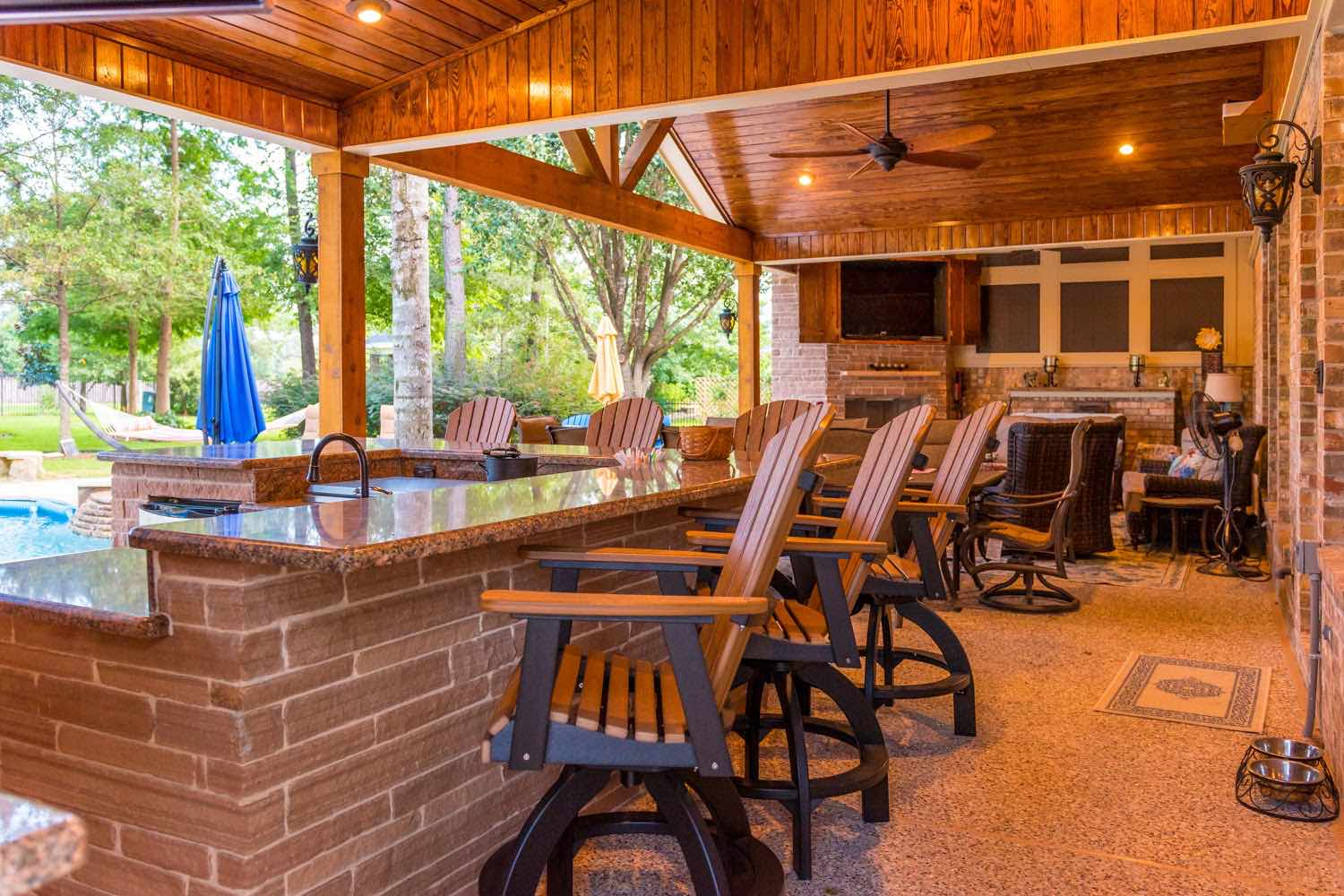 Outdoor Spaces   Perry Pools and Spas on Outdoor Living Spa id=67943