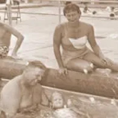 Ocala City Pool Newt and Dot taught swimming lessons at the City Pool in Ocala near Tuscawilla Park in the 1950's.