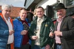 Freuten sich über die gelungene Veranstaltung, von links: Bgm. Reinhard Breitner, Martin Franz, Alfred Stuphann und Franz Gruber