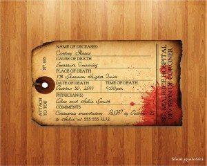 Antique Toe Tag Printable Invitation by blushprintables, $12.00