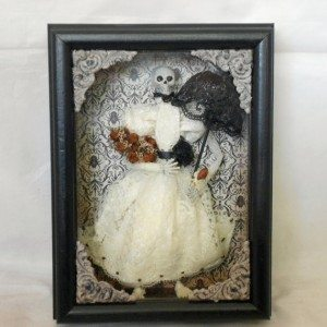 Victorian Skeleton - Shadow Box by NacreaousAlchemy, $35.00