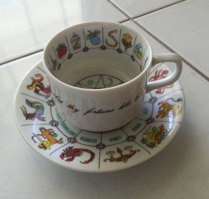 Fortune Teller Tea Cup and Saucer by terbearco,  $16.99