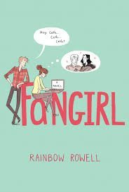 "The cover of ""Fangirl"" by Rainbow Rowell."