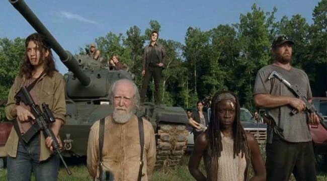 "A still image from ""The Walking Dead."""