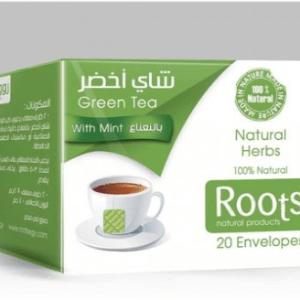 Roots شاي أخضر بالنعناع - 20 ظرف