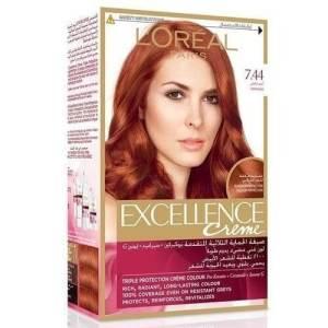 لوريال باريس صبغة الشعر الرائعة إكسيلانس كريم - 7.44 أحمر فلفل