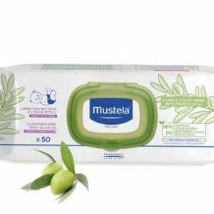 موستيلا مناديل تنظيف مبللة بزيت الزيتون للاطفال - 50 منديل مبلل