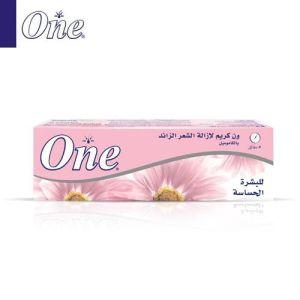 One كريم لازالة الشعر للبشرة الحساسة 140 جم