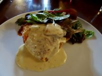 Butternut Squah & Sage Stuffed Pancakes with Goats Cheese Sauce