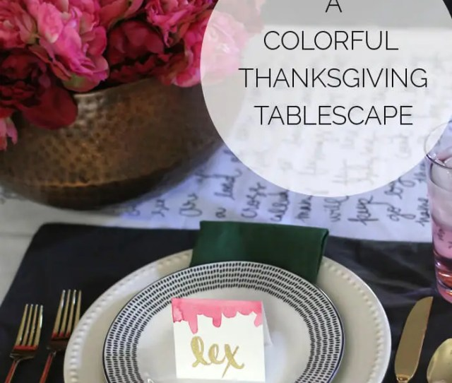 Thanksgiving Tablecloth And Tablescape Blog Hop