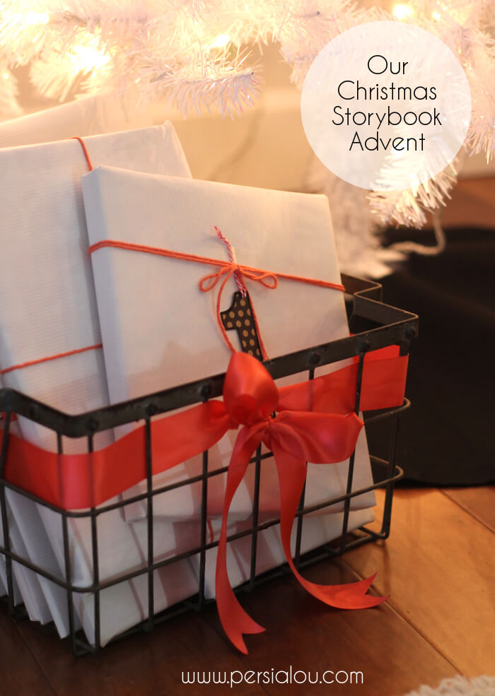 Christmas Book Advent - a fun holiday tradition. Ideas for wrapping and a list of books to get you started