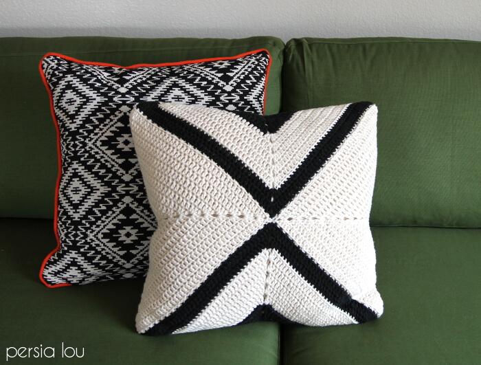 modern x crochet pillow pattern