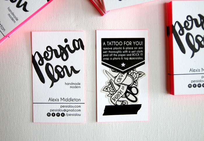 creative business cards with maker themed tattoos