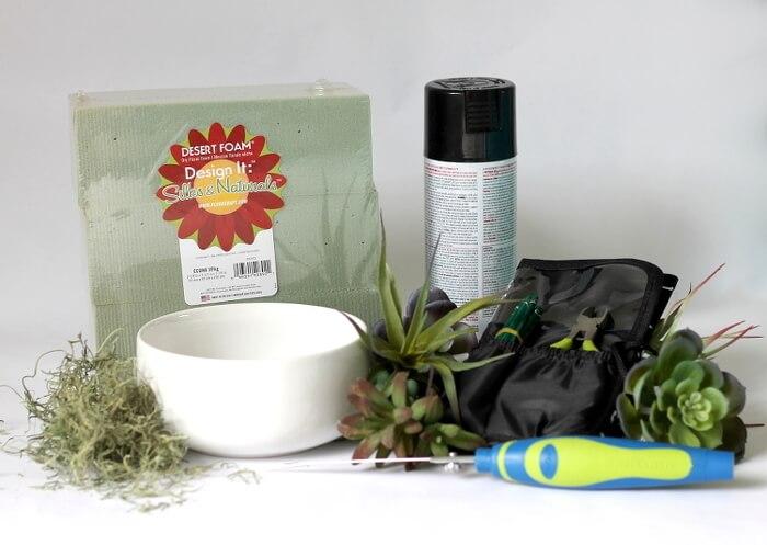 simple succulent planter supplies