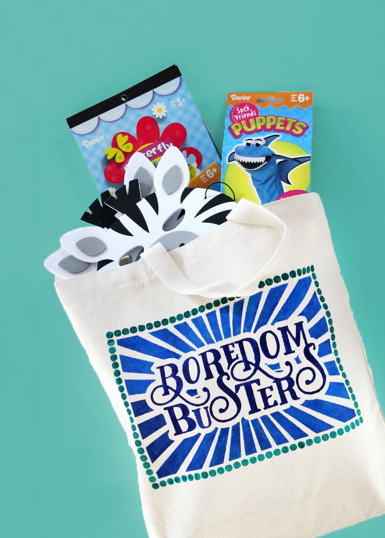 kids boredom busters bag