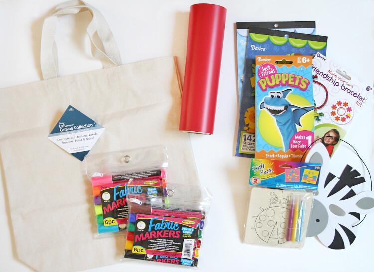 kids boredom busters bag supplies