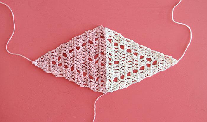 trillium scarf free triangle scarf crochet pattern from persia lou - triangle motif
