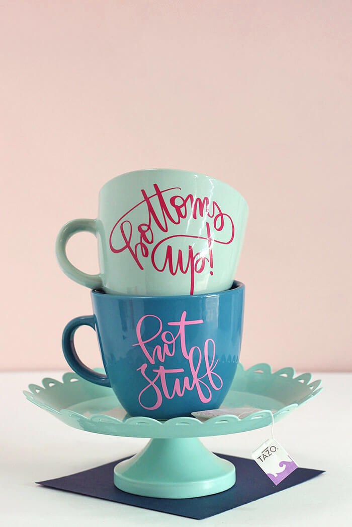 personalized diy mugs with vinyl