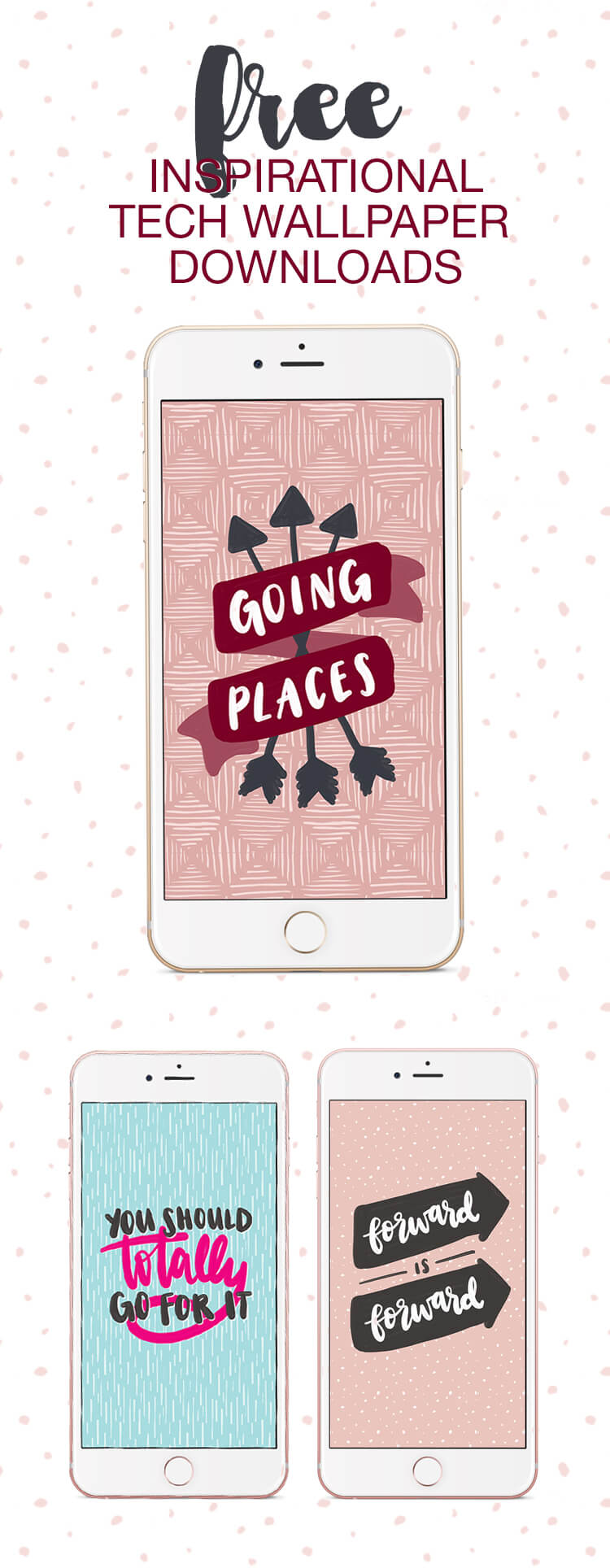 Free Inspirational Tech Wallpaper Downloads - dress up your phone or tablet with these cute hand drawn designs