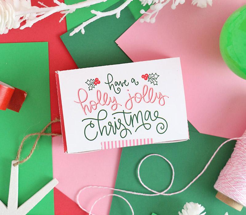 printable gift card box holidays
