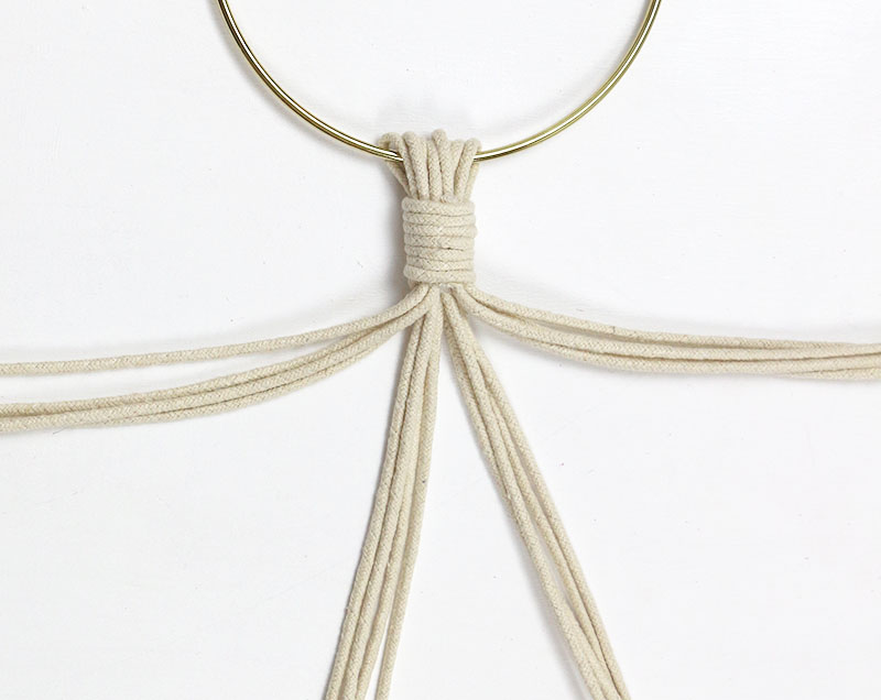separate strands - diy macrame plant hanger