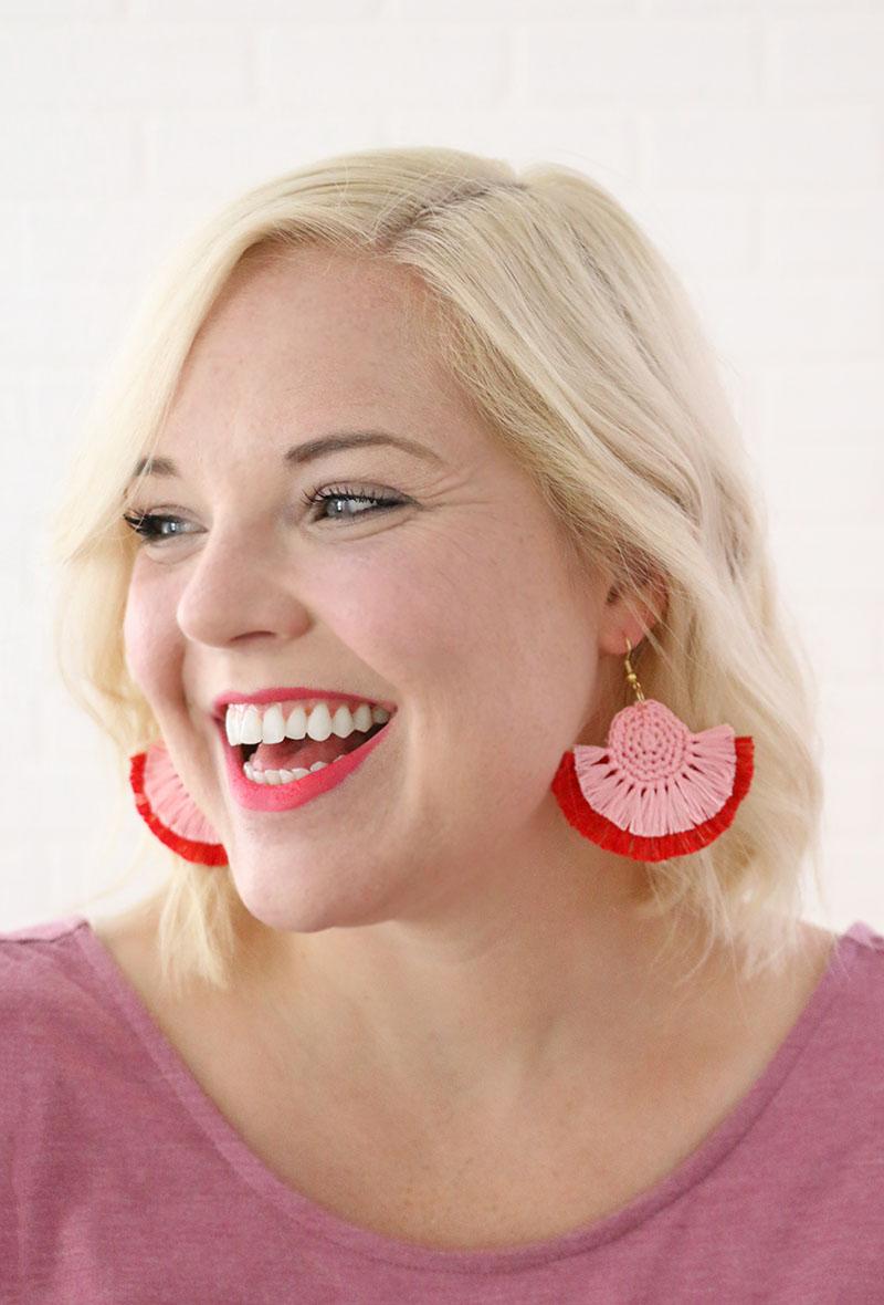 crochet earrings - free pattern