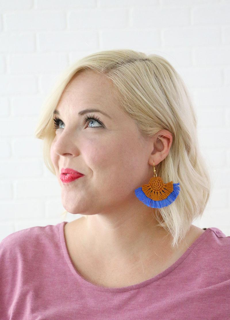 diy statement earrings - crochet earrings free pattern