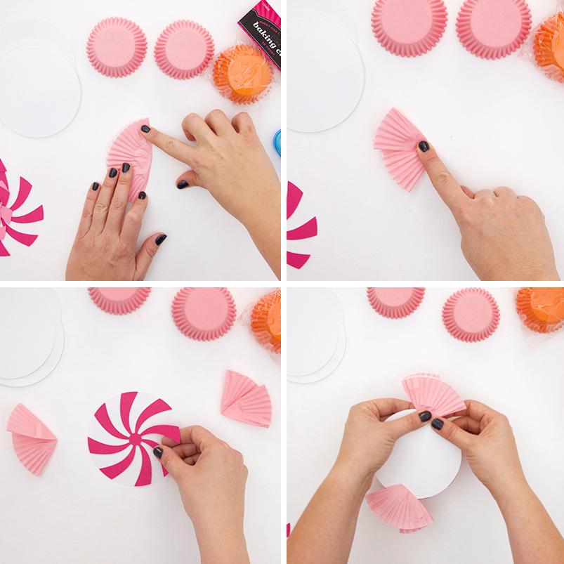make swirl candies - diy halloween candy banner