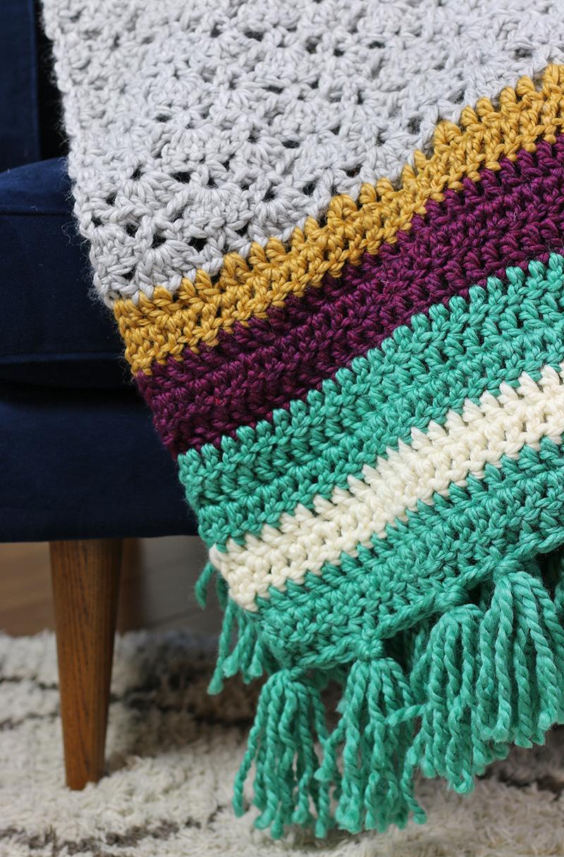 the hawthorn - free crochet throw pattern