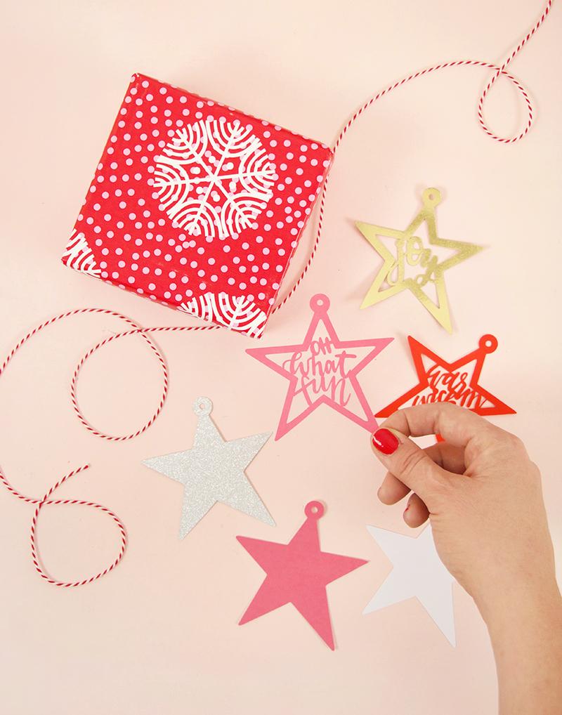 christmas tags - svg cut file