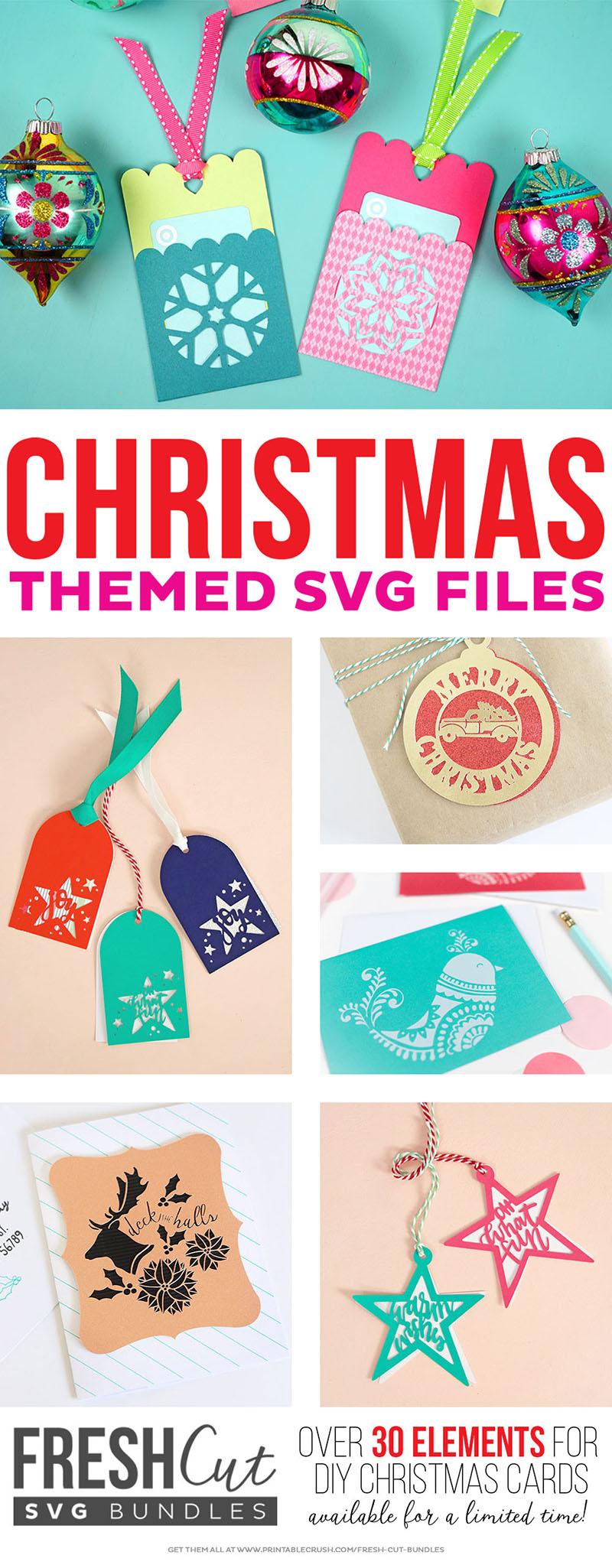 christmas svg cut files