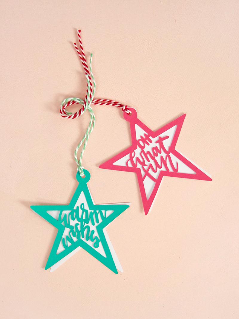 Christmas star tags - svg cut file