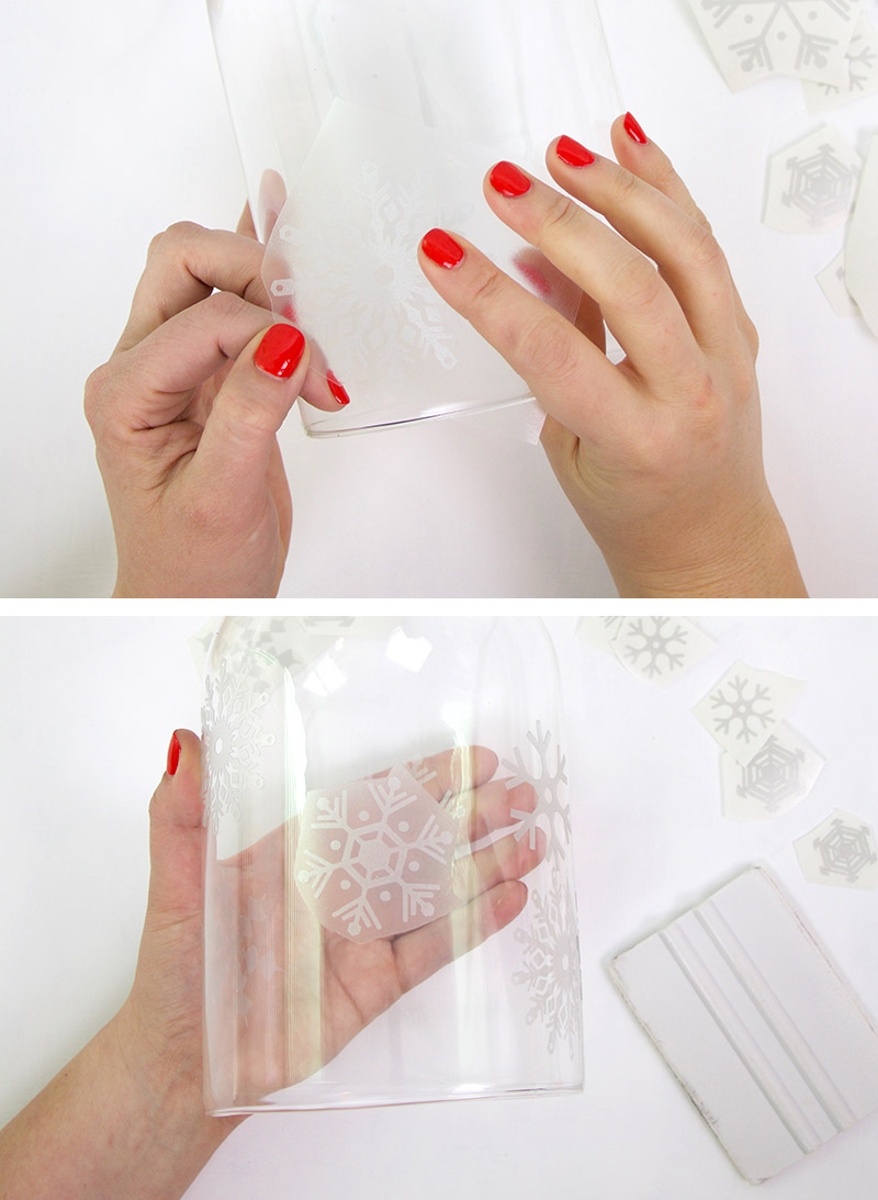 apply etched glass vinyl decal