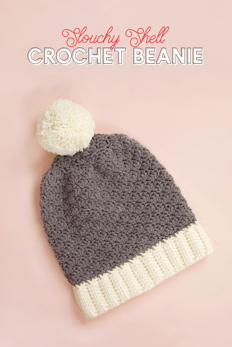 slouchy shell crochet hat pattern