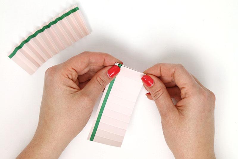 accordion fold paper rosette