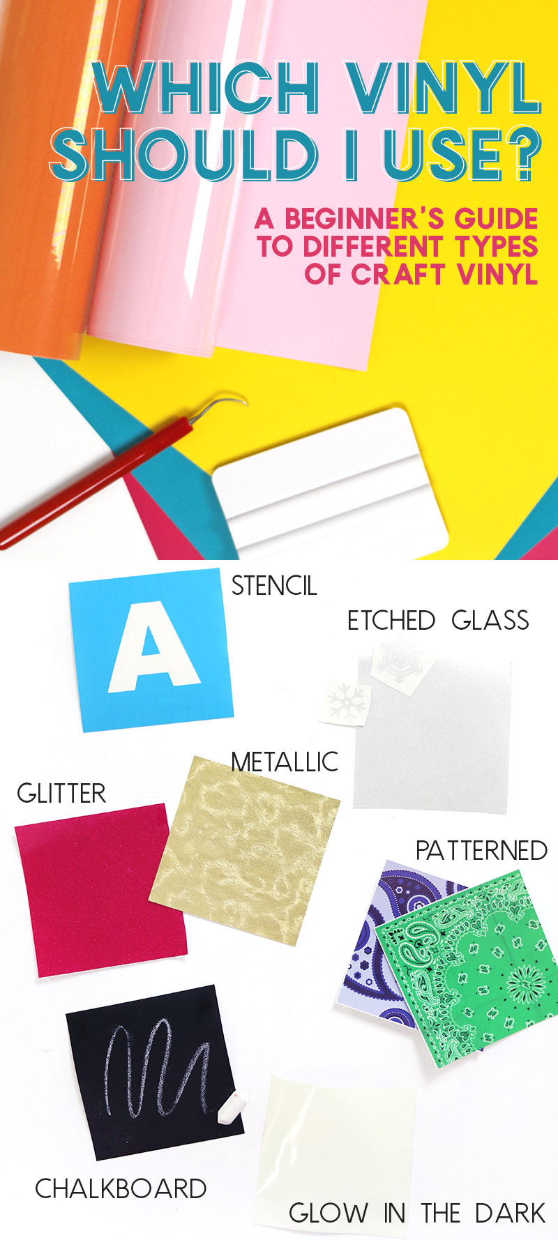 which vinyl should I use? Learn all about different types of vinyl to use with your Silhouette or Cricut and find out which one is best for the project you are working on