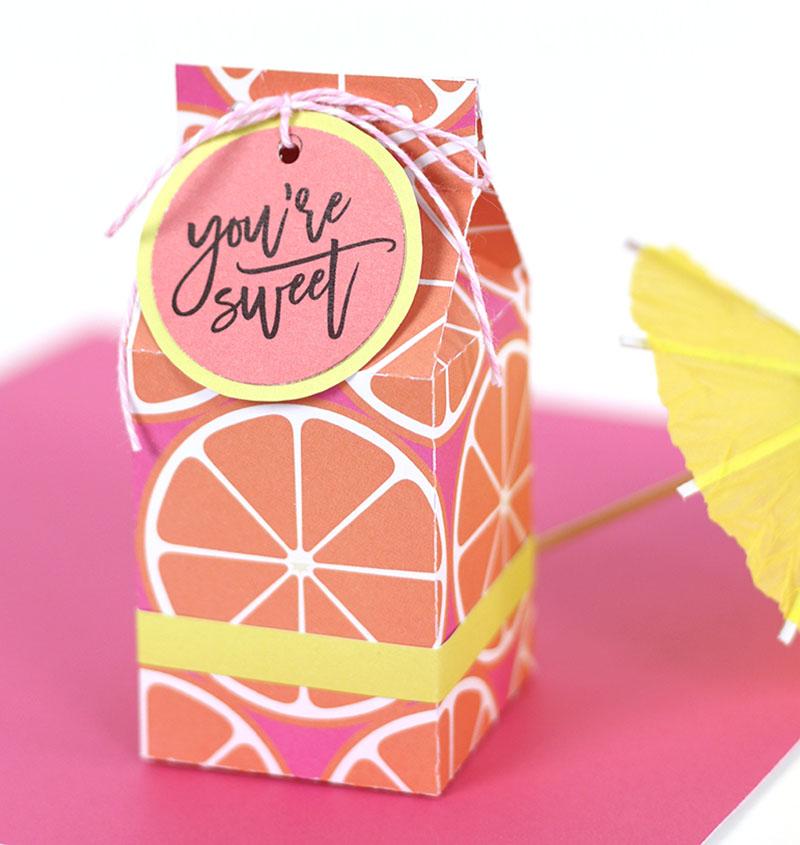 orange milk carton treat box template