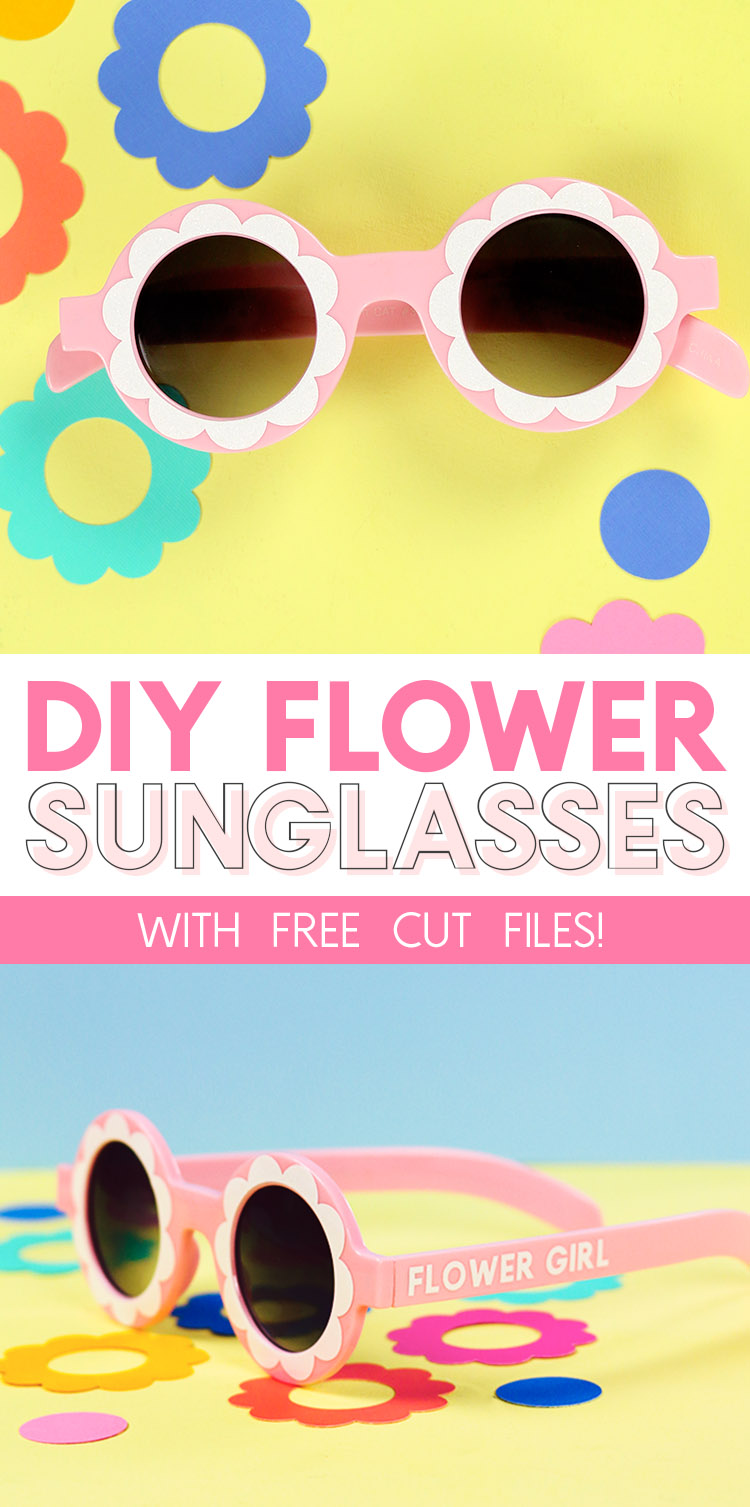diy flower sunglasses with free cut file