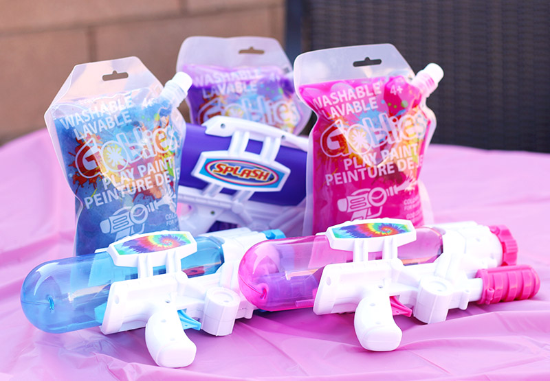goblies play paint and squirt guns