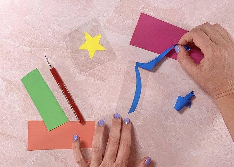 weeding happycut vinyl for shooting star cut file design