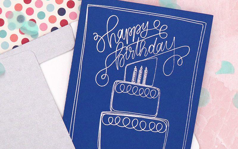 Free Happy Birthday Sketch / Foil Quill SVG