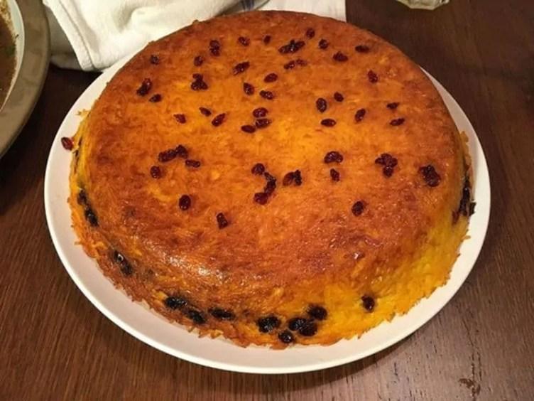 Best persian dishes Tachin Persian saffron rice
