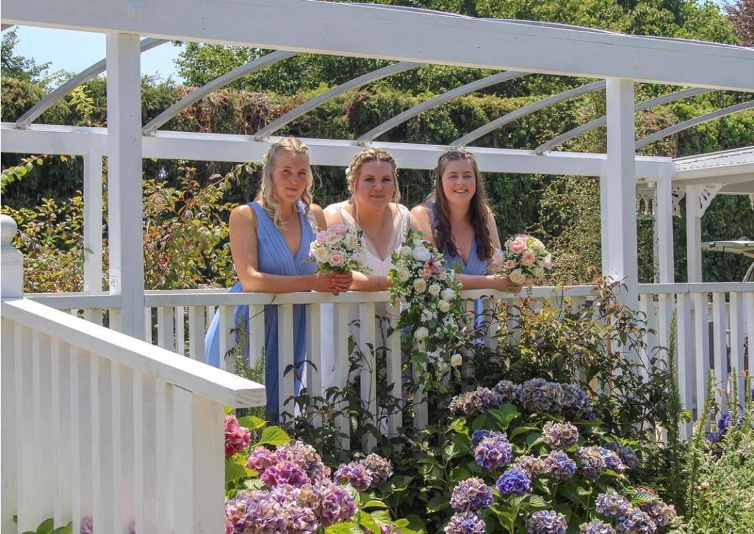 Bride & Bridesmaids on Bridge Deck