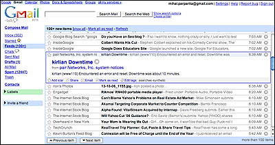 Gmail and Google Reader integration