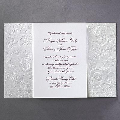 lace invitation wrap elegant