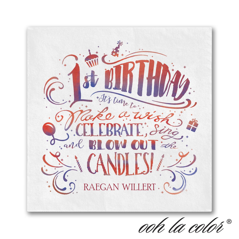 birthday wish napkin