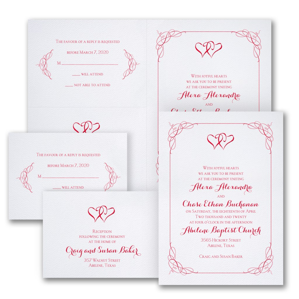 blissful hearts wedding invitation budget friendly