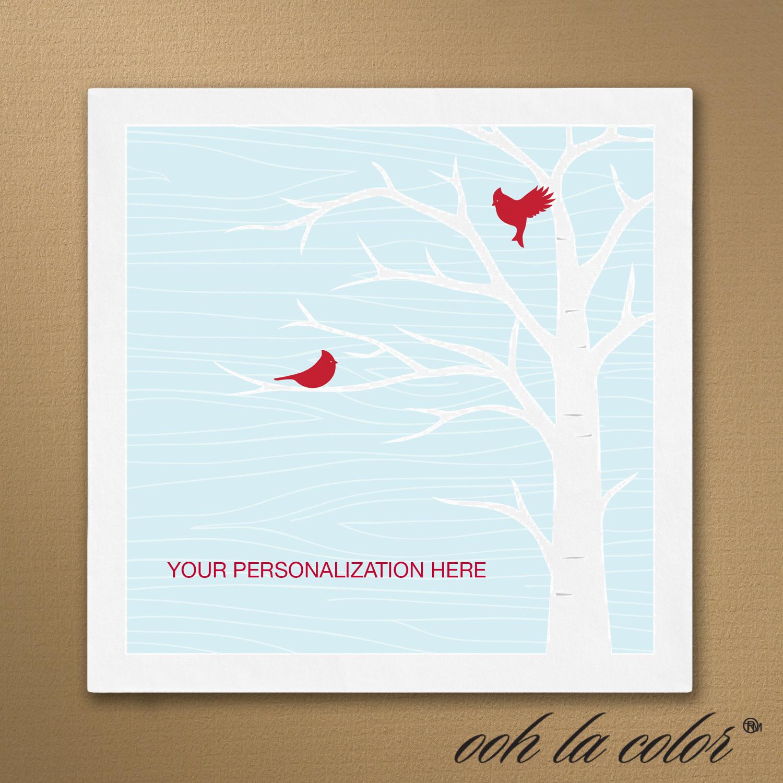 cardinal holiday napkins